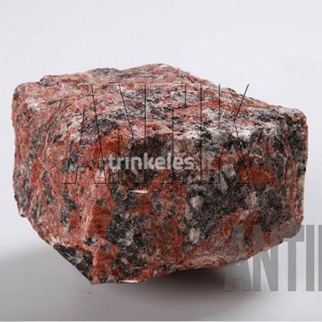 Granito akmens trinkelė raudona 100x100x50