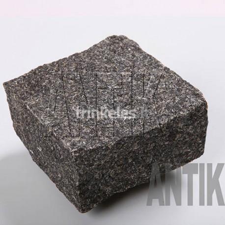 Granito akmens trinkelė ANTIK gabbro-juoda 100x100x50